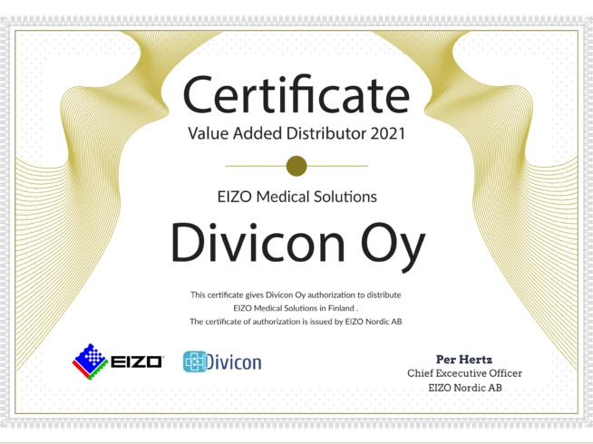 Divicon Oy, Eizon virallinen ja sertifioitu jakelija ja teknologiaumppani.